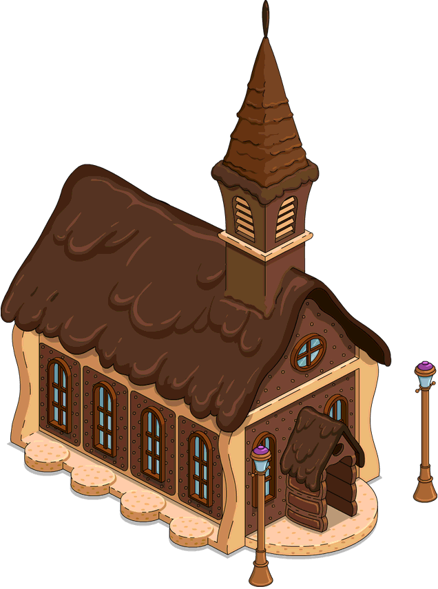Rich house clipart clipart black and white Land of Chocolate Chapel | The Simpsons: Tapped Out Wiki | FANDOM ... clipart black and white