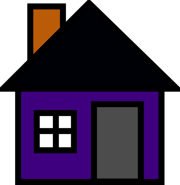 Clipart house building graphic free download Purple House Clip Art at Clker.com - vector clip art online, royalty ... graphic free download