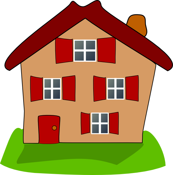 House with windows clipart graphic House with windows clipart graphic
