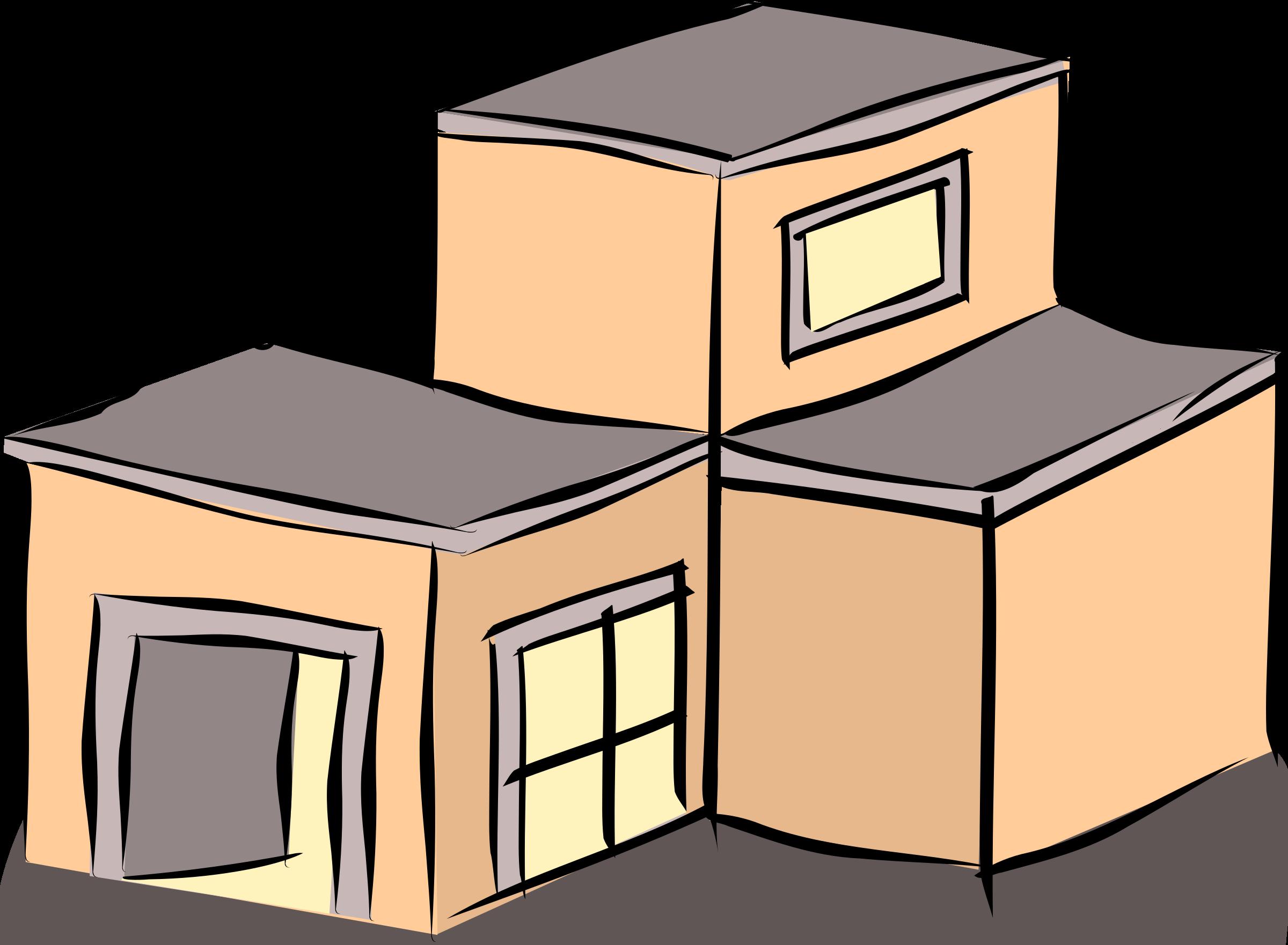 Building house clipart jpg freeuse stock Clipart - Salmon coloured building jpg freeuse stock