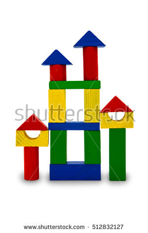 Building a house with wooden blocks clipart svg royalty free library House Childrens Blocks Roof Book Stock Illustration 50811640 ... svg royalty free library