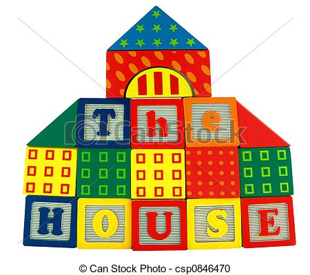 Building a house with wooden blocks clipart svg royalty free Stock Photography of Toy house - Building block, Wood block house ... svg royalty free