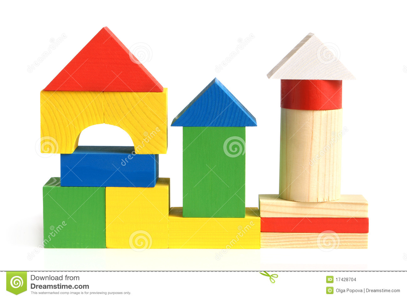 Building a house with wooden blocks clipart jpg library download House Made From Children's Wooden Building Blocks Stock Images ... jpg library download