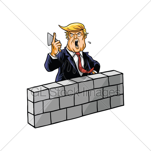 Building a wall clipart clip art freeuse stock Donald Trump Build Wall · GL Stock Images clip art freeuse stock