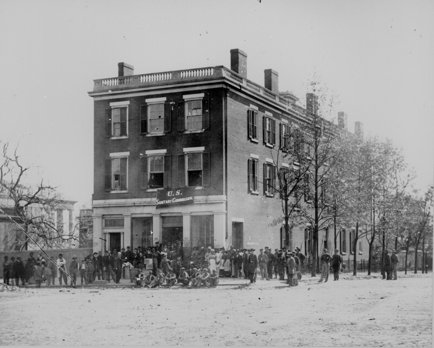 Building after the civil war clipart black and white library Civil War Photos   National Archives black and white library