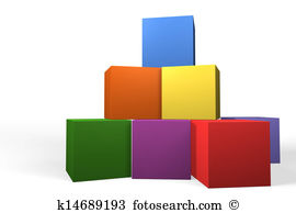 Illustrations and forming a. Building blocks clip art