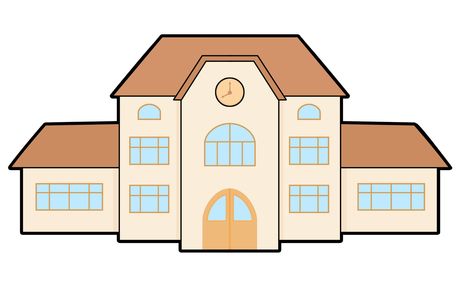 Clipart school building image library Free Clipart Of Buildings - Real Clipart And Vector Graphics • image library