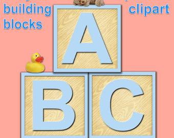 Building blocks clipart birthday boy image royalty free stock Building Blocks Alphabet Clipart Primary Colors Alphabet image royalty free stock