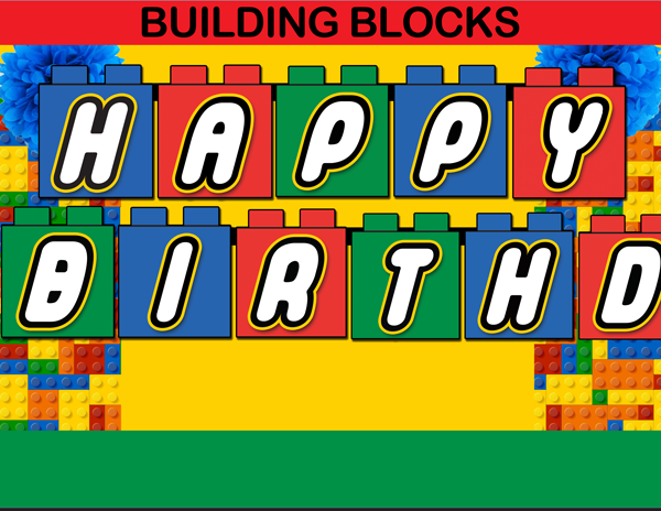 Building blocks clipart birthday boy banner black and white Building blocks clipart birthday boy - ClipartFest banner black and white