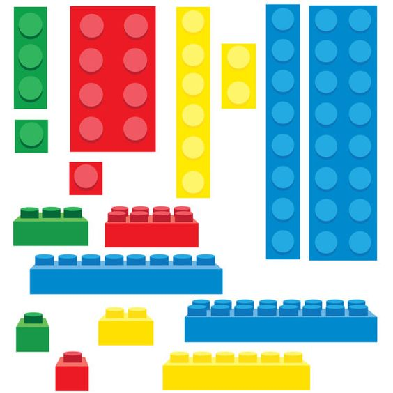 Building blocks clipart birthday boy vector freeuse library Lego Inspired Building Blocks Clip Art - PNG on Etsy, $1.00 | Big ... vector freeuse library