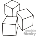 Building blocks clipart black and white clipart stock Royalty-Free Black and white outline of simple building blocks ... clipart stock