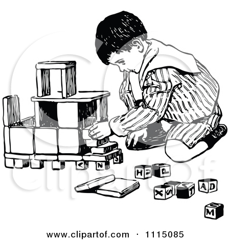 Building blocks clipart black and white image royalty free Royalty-Free (RF) Clipart of Building Blocks, Illustrations ... image royalty free
