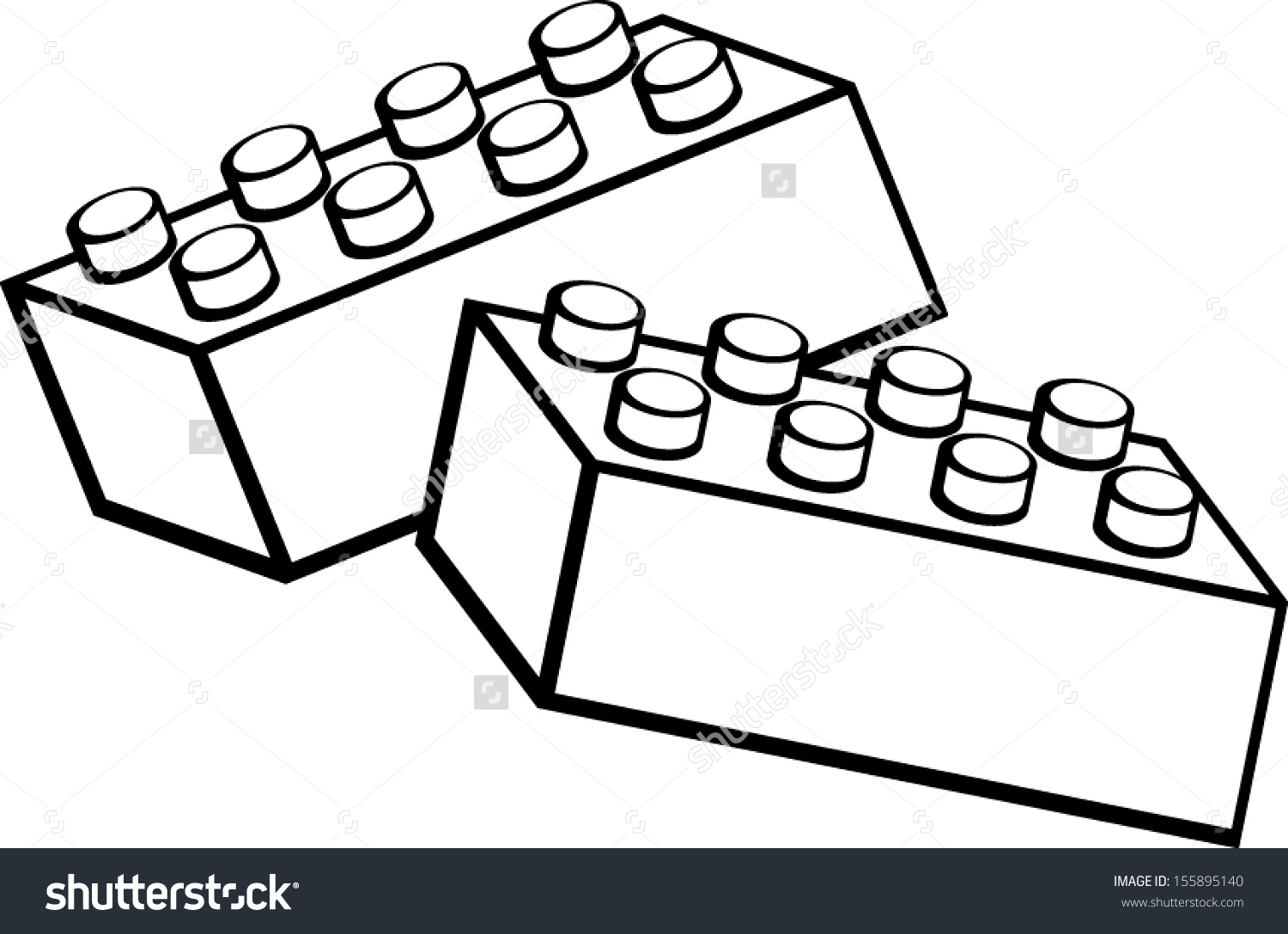 Building blocks clipart black and white clipart download Toy Building Blocks Bricks Stock Vector 155895140 - Shutterstock clipart download