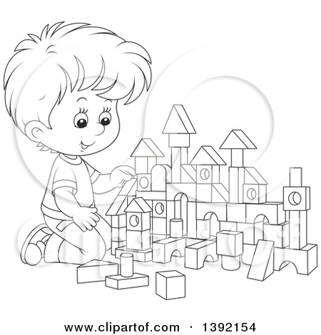 Building blocks clipart black and white clipart library Royalty Free Stock Illustrations of Building Blocks by Alex ... clipart library
