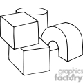 Building blocks clipart black and white image black and white Black And White Blocks Clipart - Clipart Kid image black and white