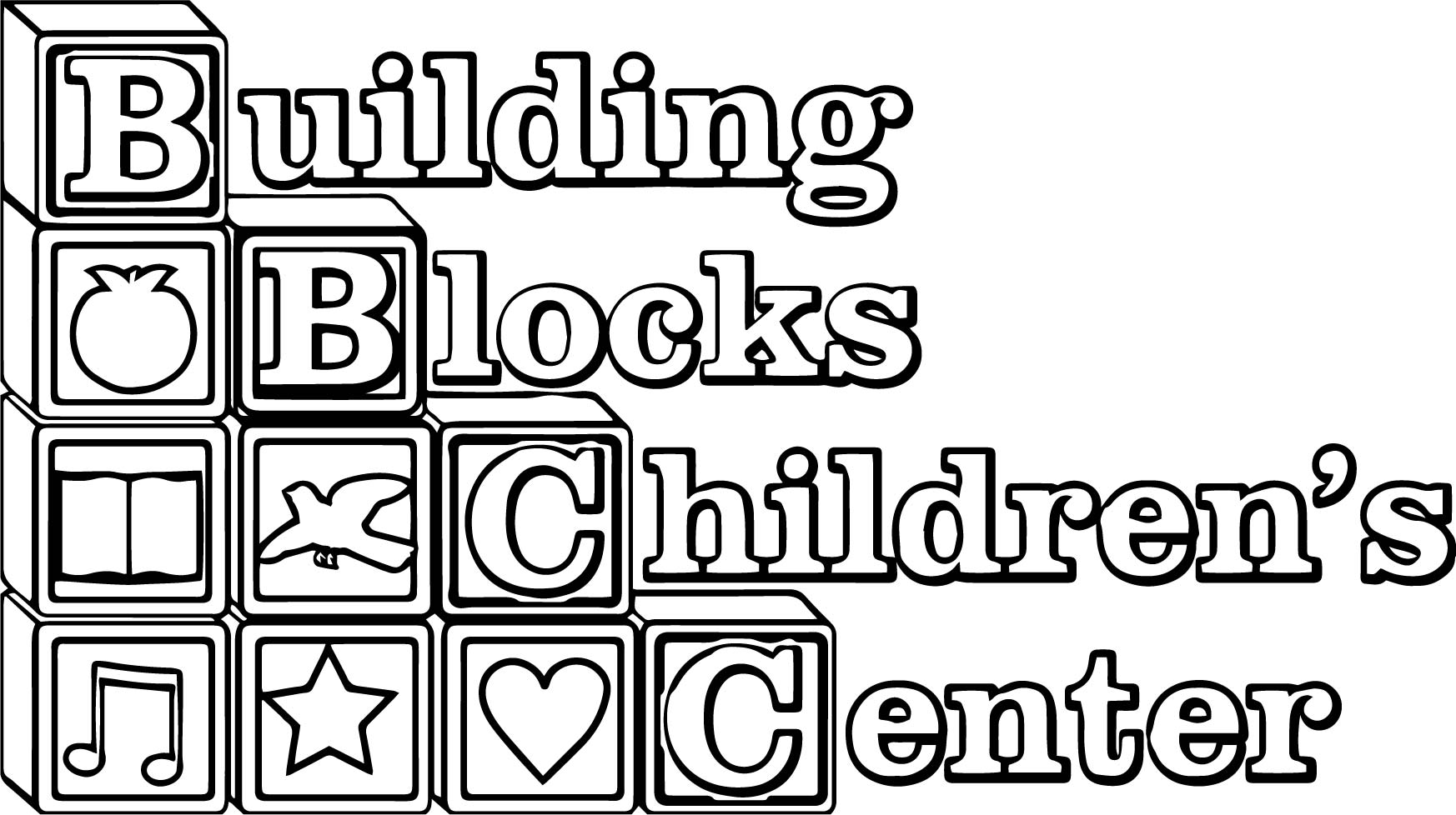 Coloring pages printable for. Building blocks clipart blank outline