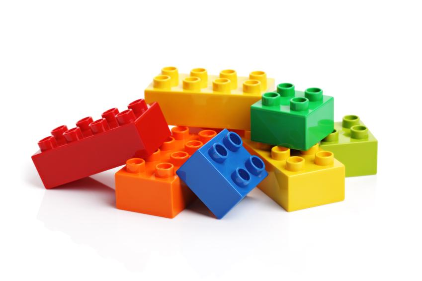 Building blocks game clipart