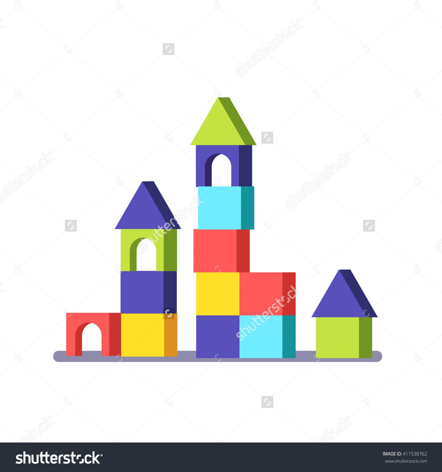 Building blocks game clipart svg download Wooden Block Building Game Castle Modern Stock Vector 411538762 ... svg download