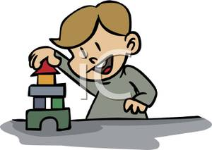 Building blocks tower clipart svg library A Small Boy Building A Tower Out Of Blocks - Royalty Free Clipart ... svg library