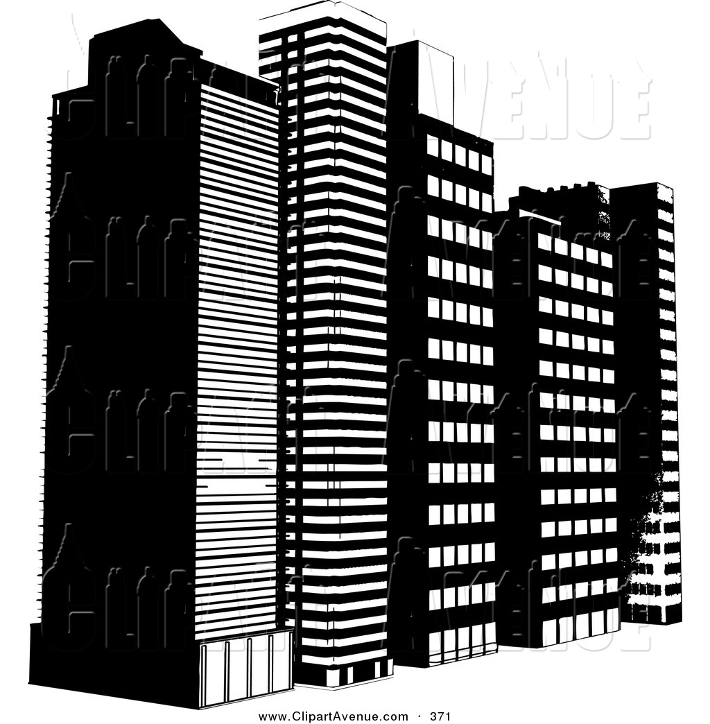 Building clipart black and white png vector free stock City building clipart black and white png - ClipartFest vector free stock
