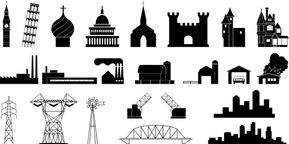 Building clipart vector black and white download Building clipart vector free download - ClipartFest black and white download