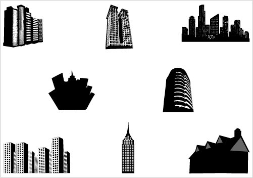 Building clipart vector vector black and white library Building clipart vector - ClipartFest vector black and white library