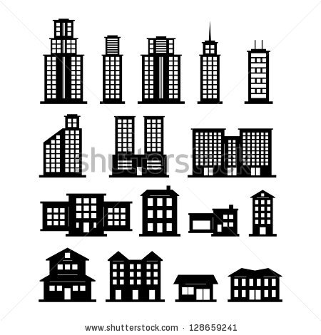 Building clipart vector clip black and white Building free vector download (1,573 Free vector) for commercial ... clip black and white