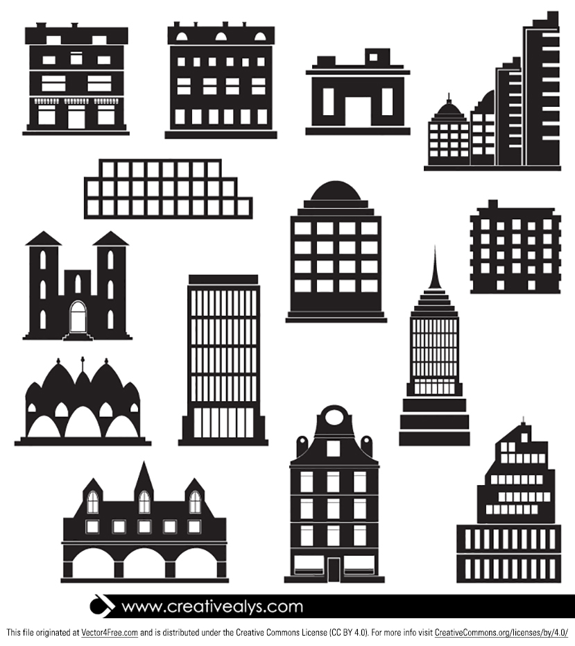 Building clipart vector free download clip art freeuse 14 Free Vector Buildings clip art freeuse