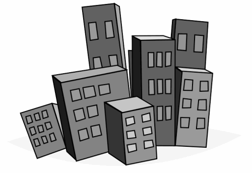 Building cliparts png image black and white stock City building clipart black and white png - ClipartFest image black and white stock