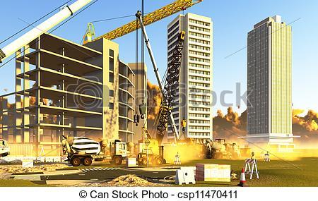 Building construction site clipart clip art free stock Construction Site Clipart - Clipart Kid clip art free stock
