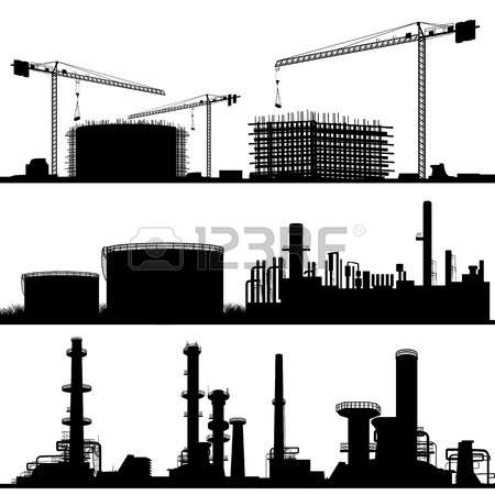 Building construction site clipart.  stock illustrations cliparts