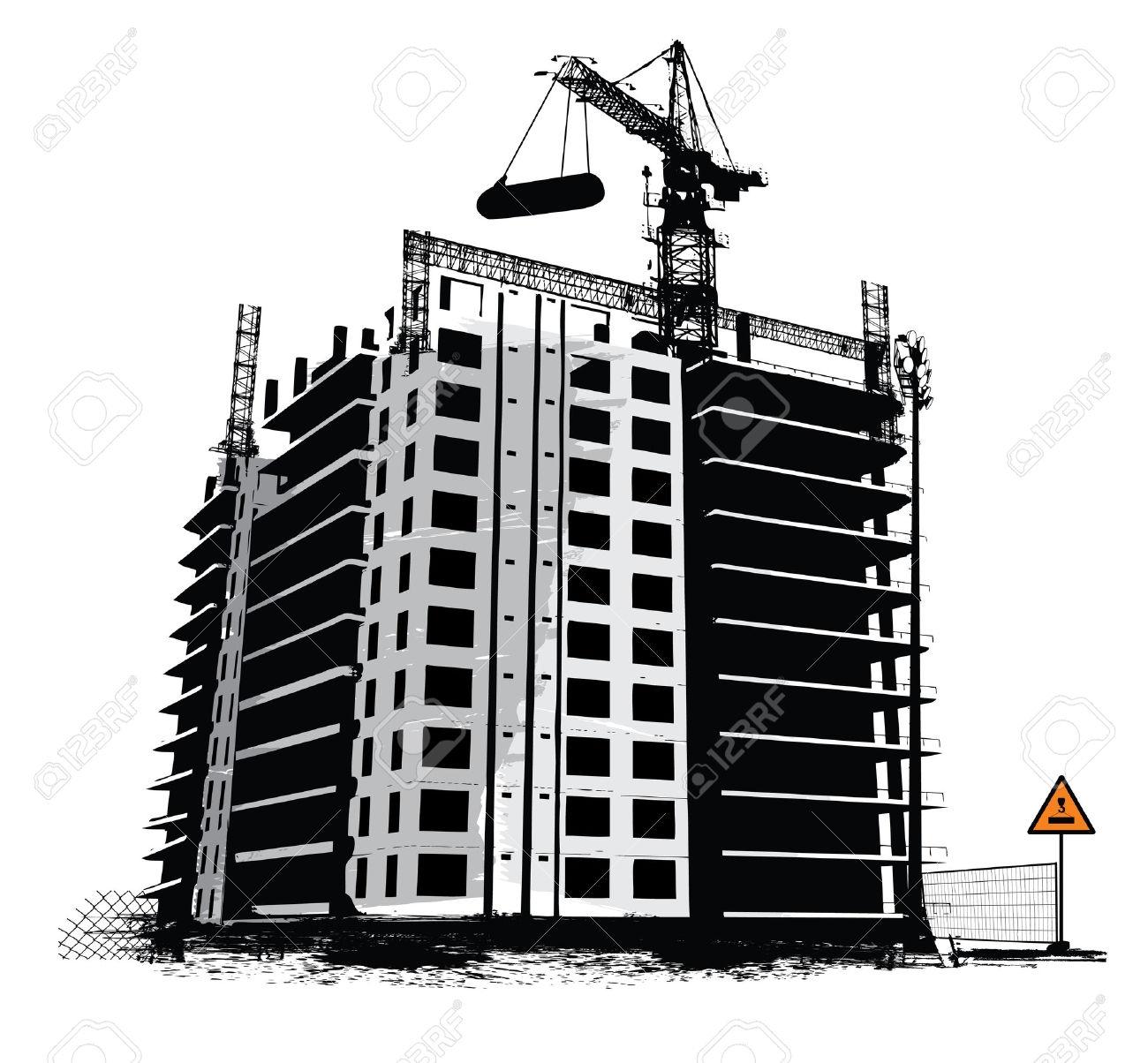 Building construction site clipart vector freeuse download Building construction clipart - ClipartFest vector freeuse download