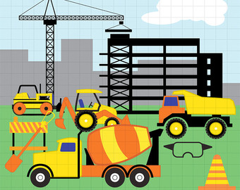 Building construction site clipart graphic library library Building site clipart - ClipartFest graphic library library