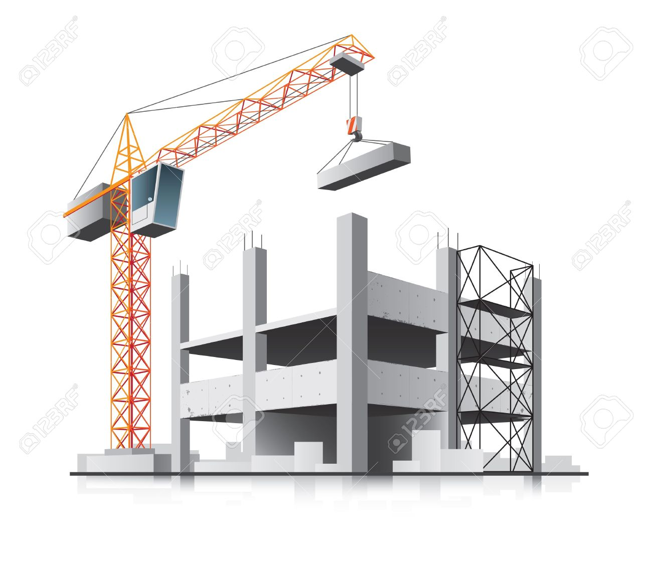 Building construction site clipart svg free stock Building construction clipart - ClipartFest svg free stock