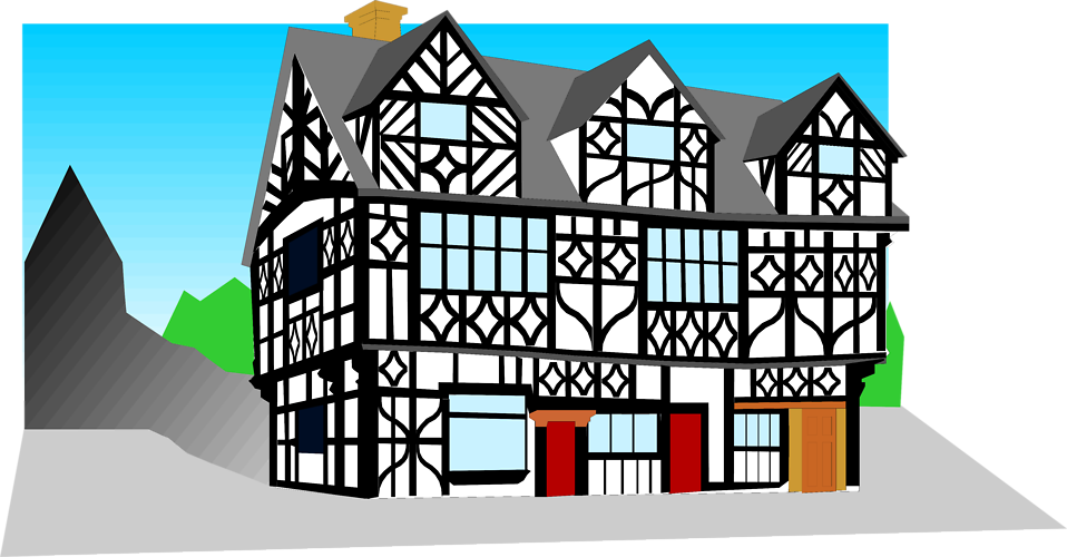 Ugly house clipart clip art library Building | Free Stock Photo | Illustration of a tudor style building ... clip art library