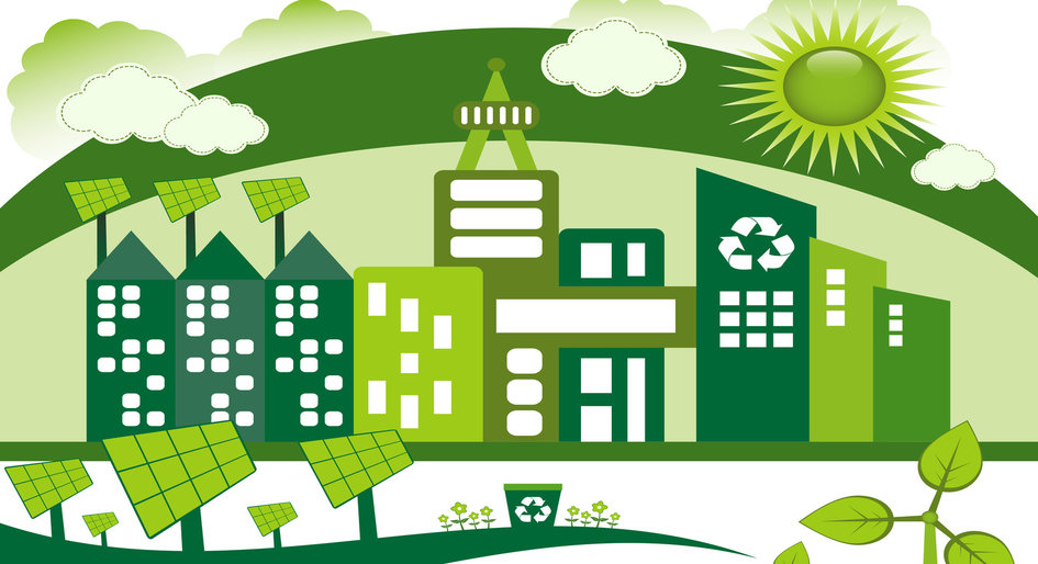 Green building clipart