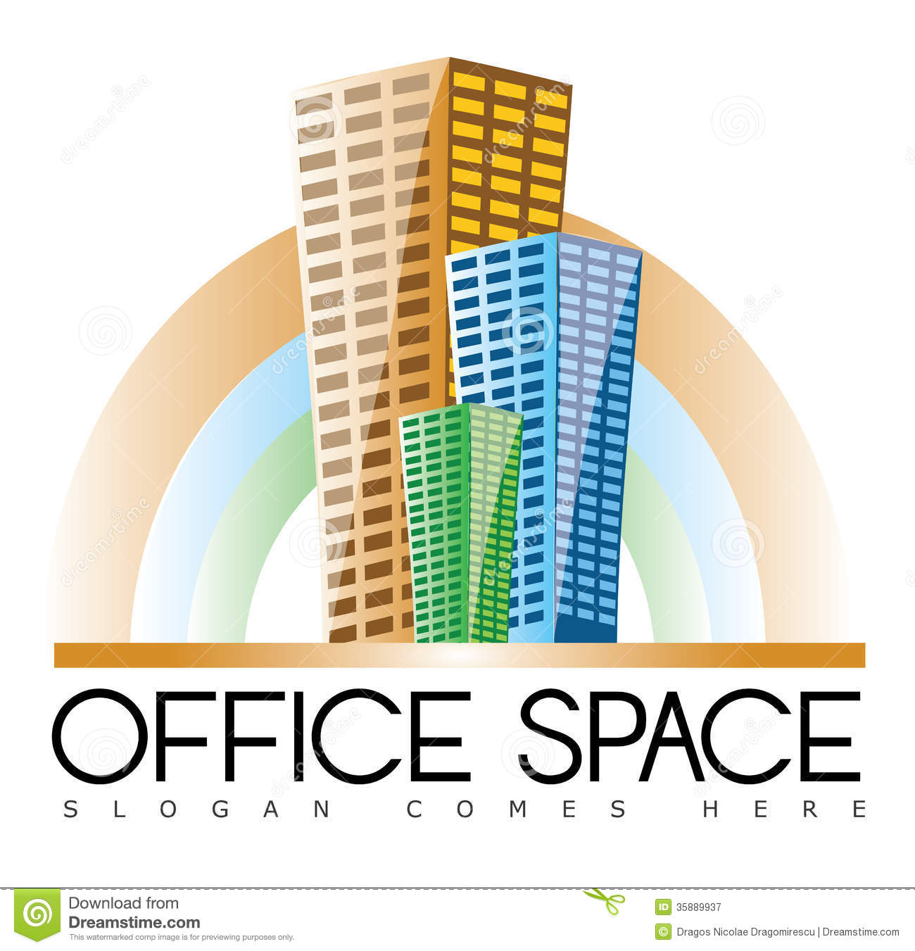 Building logo clipart. Real estate stock photos