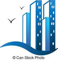 Building logo clipart banner free stock Vector Illustration of Modern buildings real estate logo - Modern ... banner free stock