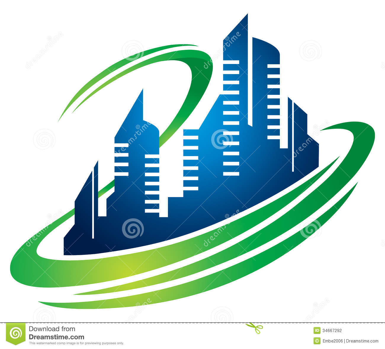 Building logo clipart. Stock photos images pictures