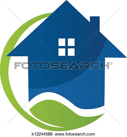 Stock illustration of apartments. Building logo clipart