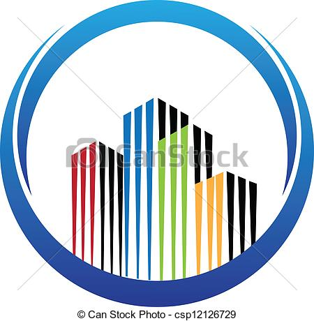 Building logo cliparts transparent library Vector Illustration of Building real estate logo vector - Building ... transparent library