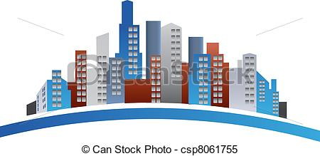 Building logo cliparts graphic library library Clipart Vector of Buildings logo - Buildings creative design logo ... graphic library library