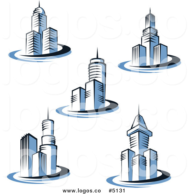 Building logo cliparts clipart freeuse library Blue Building Print Clipart - Clipart Kid clipart freeuse library