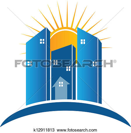 Building logo cliparts graphic library library Clipart of Modern Buildings with sun logo k12911813 - Search Clip ... graphic library library
