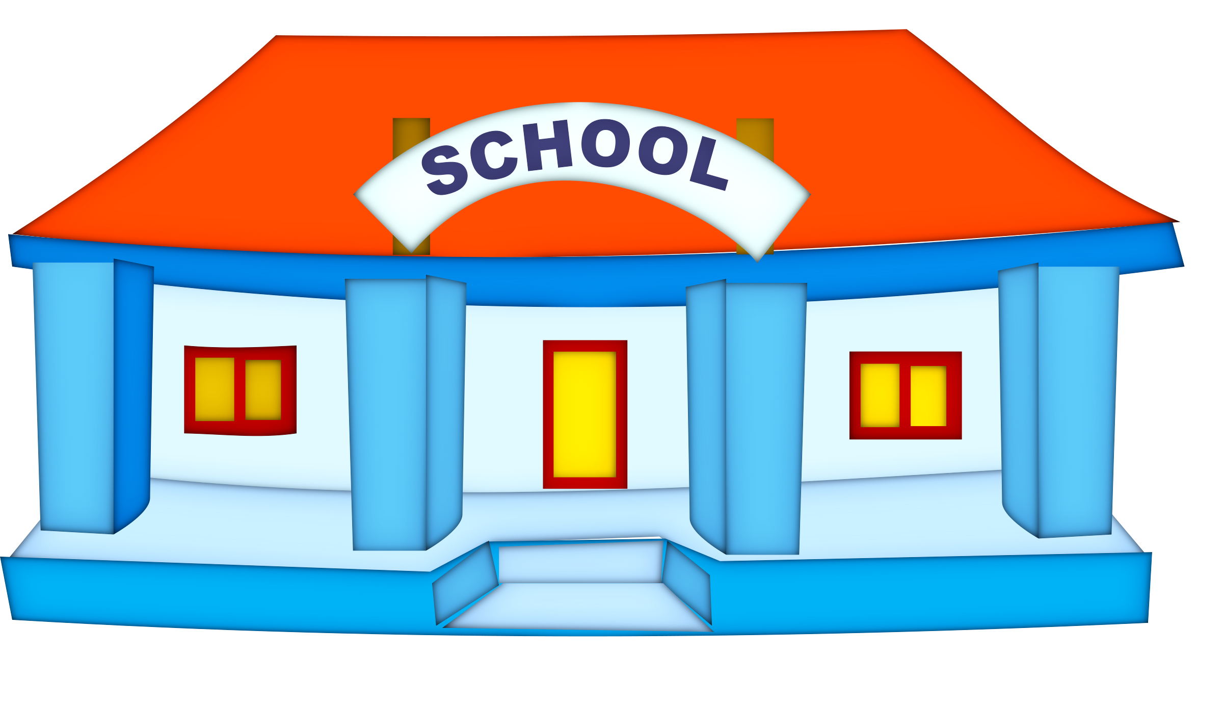 I clipart school vector black and white stock Clipart - school-building vector black and white stock