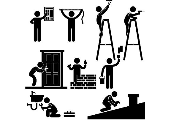 Building services cliparts