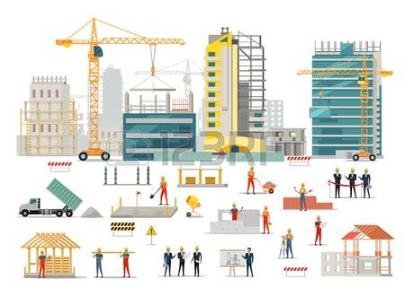 stock vector illustration. Building site clipart
