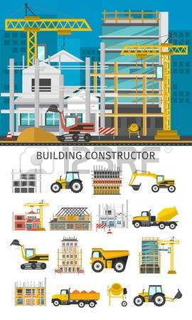 Building site clipart jpg transparent library 19,230 Building Site Stock Vector Illustration And Royalty Free ... jpg transparent library