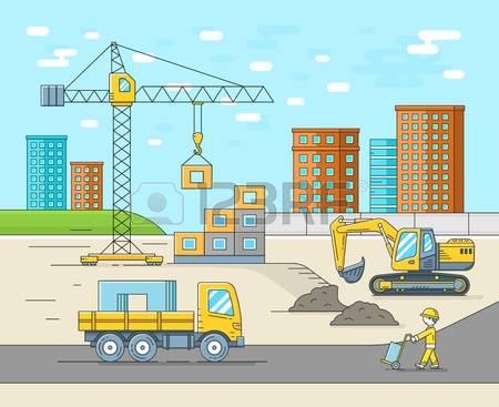 Building site clipart.  stock vector illustration