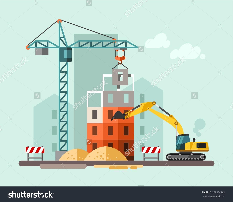 Building site clipart. Clipartfest cartoon info